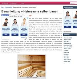 Sauna bauen